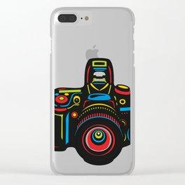 Black Camera Clear iPhone Case