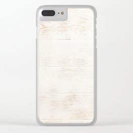 White Washed Wood Clear iPhone Case