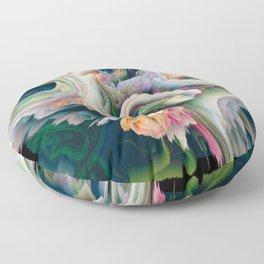 candy glitch Floor Pillow