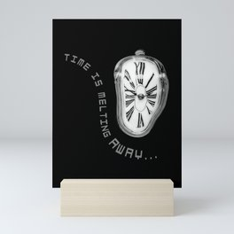 Salvador Dali Inspired Melting Clock. Time is melting away. Mini Art Print