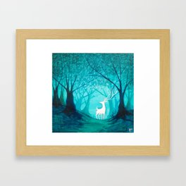 White Stag Framed Art Print