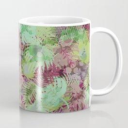 Seamless Pattern of Tropical Leaves II Coffee Mug