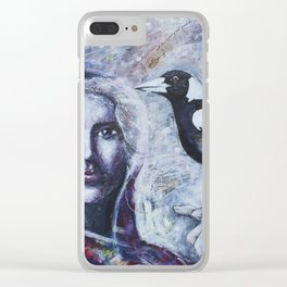 Sacred Messengers Whispering Clear iPhone Case
