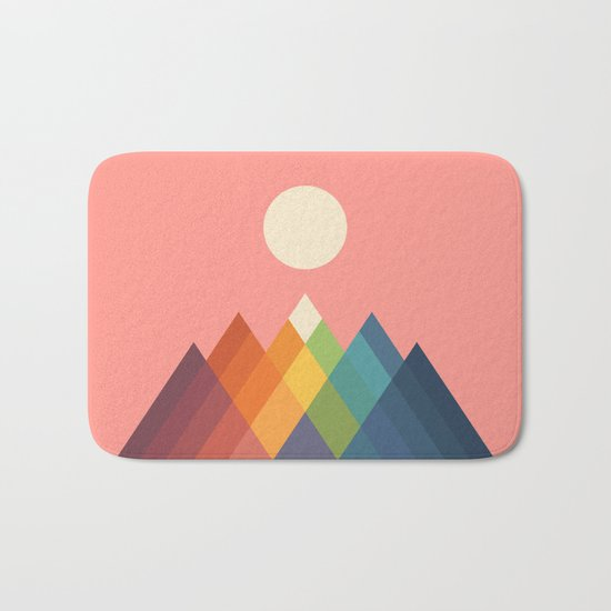 Rainbow Peak Bath Mat