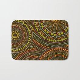 Dot Art Circles Aboriginal Art #2 Bath Mat