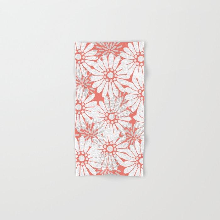 Summer Flowers Red Hand & Bath Towel