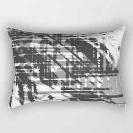 Aesthetic Urban Abstract Visual Art  Black And White Rectangular Pillow