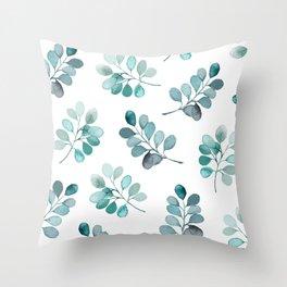 Leafy Love - Round Leaf Throw Pillow