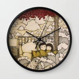 swept away & stranded Wall Clock