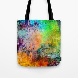 Vibrant Constellations Abstract Design Tote Bag