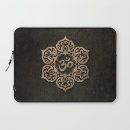 Aged Stone Lotus Flower Yoga Om Laptop Sleeve