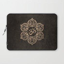 Aged Stone Lotus Flower Yoga Om Laptop Sleeve