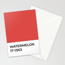 Watermelon Pantone Chip • Red • Minimalism •Typography • Graphic Designer • Classic Print • Design Stationery Cards