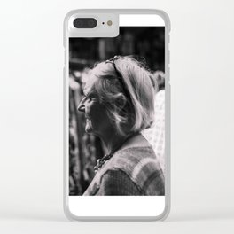spectator-monochrome Clear iPhone Case