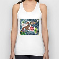 santa Tank Tops featuring Santa by Shelley Ylst Art