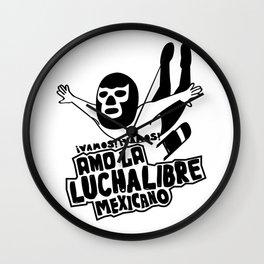 La Luchador2 Wall Clock