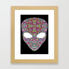 Rainbow Alien Framed Art Print