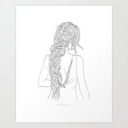 BRAIDGIRLONE Art Print