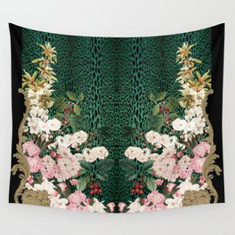 Cherry Leopard Panel Wall Tapestry