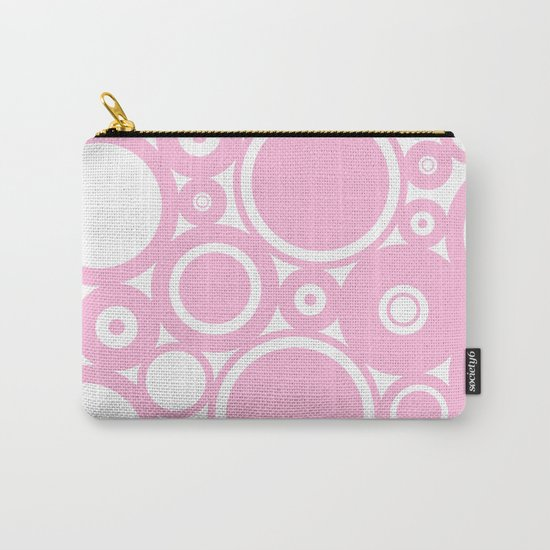Abstract dots and circles - abstract patterns - pink #Society6 Carry-All Pouch