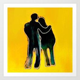 Lovers. Art Print
