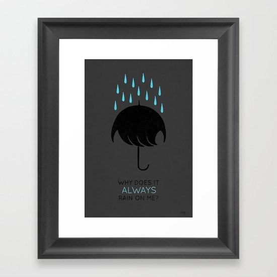 Umbrellas are Emo Framed Art Print