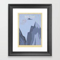 World Travel - Mountains Framed Art Print