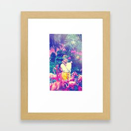 Wade in Pink Framed Art Print