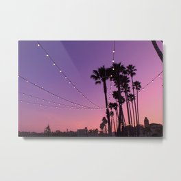 Lit Sunset Metal Print