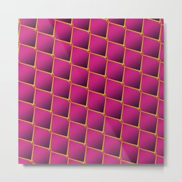 Pink Dragon Scales Metal Print