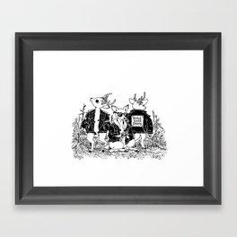 The Triple Dare Deerz Framed Art Print