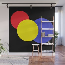 Red Yellow & Blue : Mod Circles Wall Mural