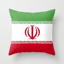 Iran flag emblem Throw Pillow