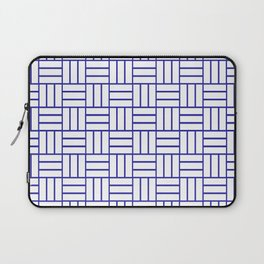 Basketweave (Navy Blue & White Pattern) Laptop Sleeve