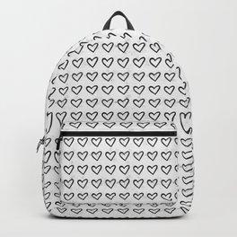 Heart Ink Pattern Backpack