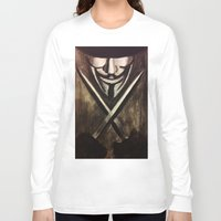 vendetta Long Sleeve T-shirts featuring VENDETTA by The Traveling Catburys