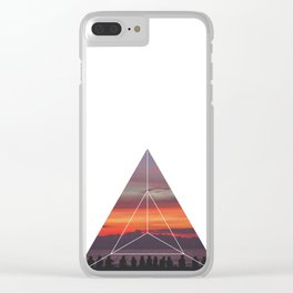 Good Friends and Sunset - Geometric Photography Clear iPhone Case