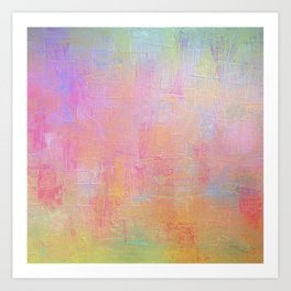 Cotton Candy Abstract Art Print