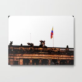 Plaza Of Bolivar, Colombia. Metal Print