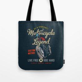 Motorcycle Legend Tote Bag