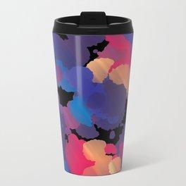 Abstract Spots Metal Travel Mug
