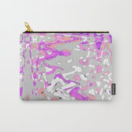 Multi colored waves in purple Carry-All Pouch