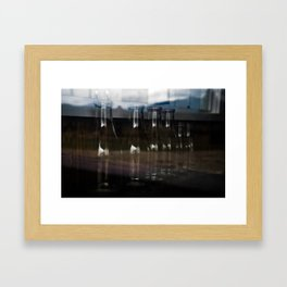 Milk Bottles Framed Art Print