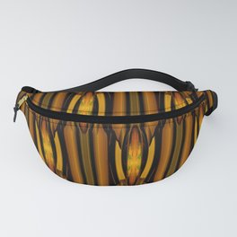 Brown And Rust Textile Pattern Fanny Pack