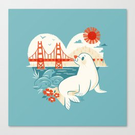 I Heart San Francisco Canvas Print