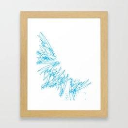Scratchy scratch Framed Art Print