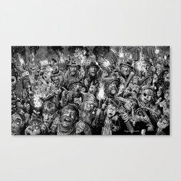 Frankenstein Villagers Canvas Print