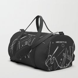 Kandinsky - Black Background Abstract art Duffle Bag
