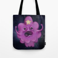 lumpy space princess Tote Bags featuring The Princess of Lumpy Space by Kristin Frenzel