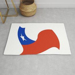 Flag of Chile 3 -Spanish,Chile,chilean,chileno,chilena,Santiago,Valparaiso,Andes,Neruda. Rug